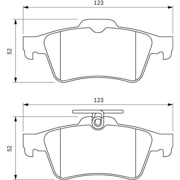 4 plaquettes de frein arri re bosch bp1037 feu vert. Black Bedroom Furniture Sets. Home Design Ideas