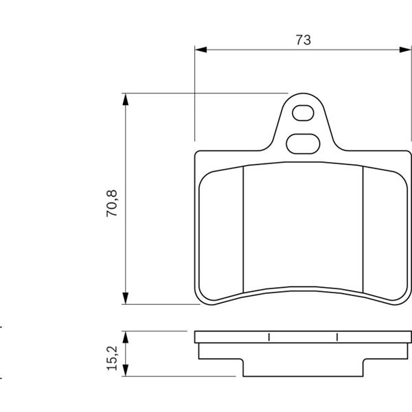 4 plaquettes de frein arri re bosch bp326 feu vert. Black Bedroom Furniture Sets. Home Design Ideas
