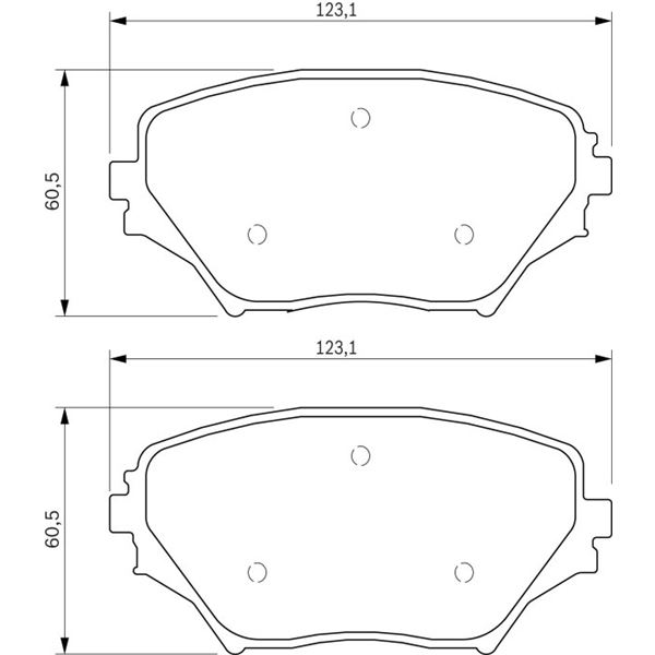 4 plaquettes de frein avant bosch bp430 feu vert. Black Bedroom Furniture Sets. Home Design Ideas