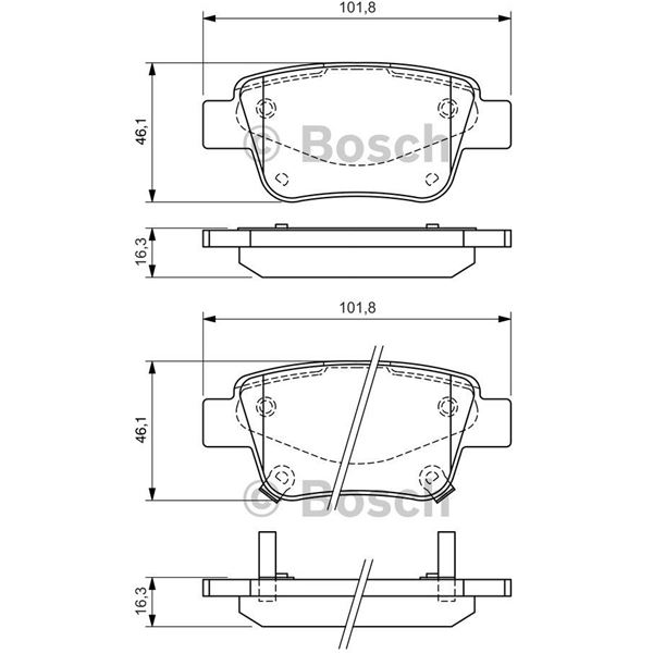 4 plaquettes de frein avant bosch bp939 feu vert. Black Bedroom Furniture Sets. Home Design Ideas