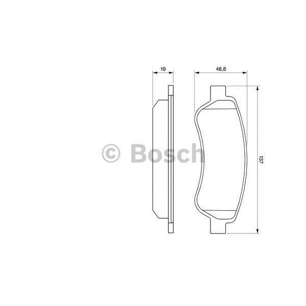 4 plaquettes de frein arri re bosch bp1020 feu vert. Black Bedroom Furniture Sets. Home Design Ideas