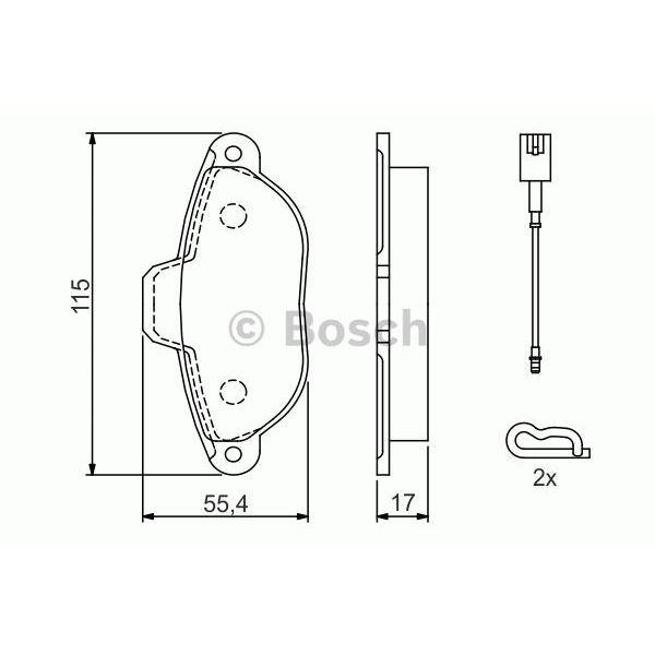 4 plaquettes de frein avant bosch bp1025 feu vert. Black Bedroom Furniture Sets. Home Design Ideas