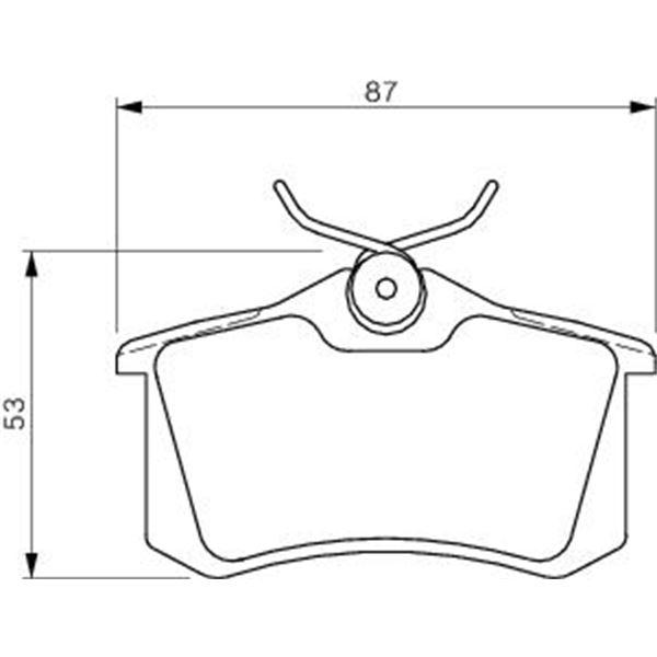 4 plaquettes de frein arri re bosch bp460 feu vert. Black Bedroom Furniture Sets. Home Design Ideas