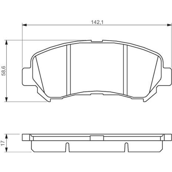 4 plaquettes de frein avant bosch bp1116 feu vert. Black Bedroom Furniture Sets. Home Design Ideas