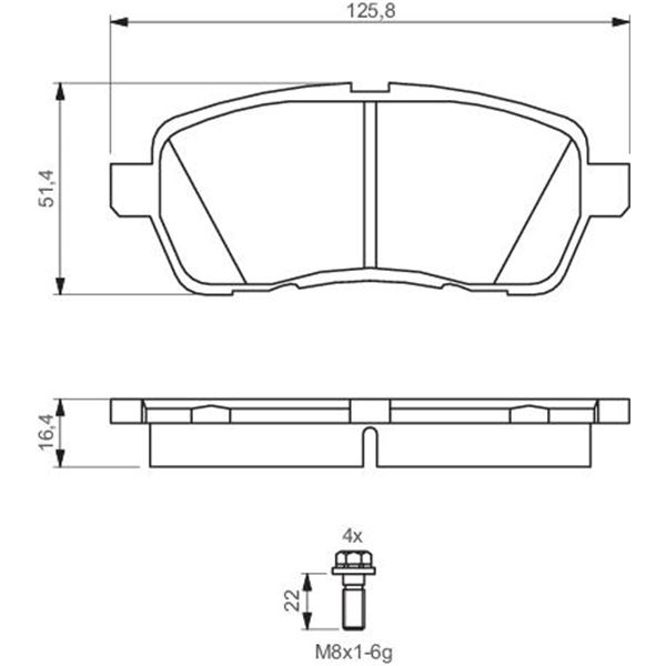 4 plaquettes de frein avant bosch bp1137 feu vert. Black Bedroom Furniture Sets. Home Design Ideas