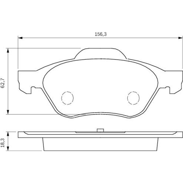 4 plaquettes de frein avant bosch bp1361 feu vert. Black Bedroom Furniture Sets. Home Design Ideas