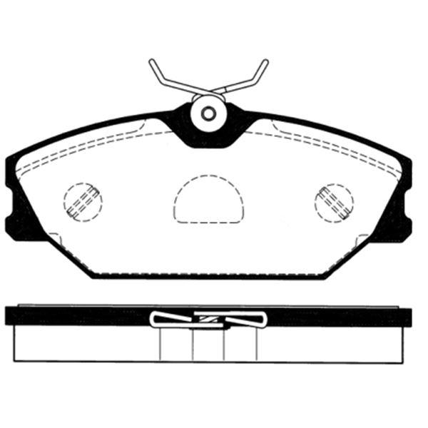 4 plaquettes de frein avant sbs 223946 feu vert. Black Bedroom Furniture Sets. Home Design Ideas