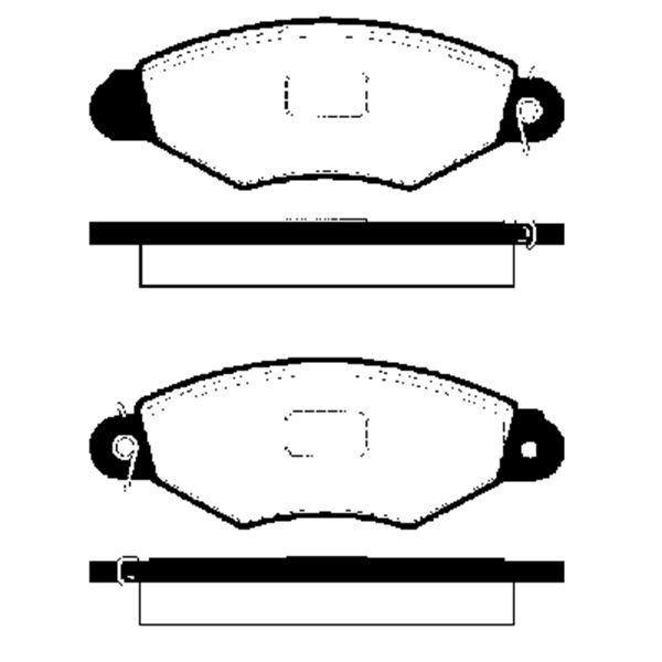4 plaquettes de frein avant sbs 223938 feu vert. Black Bedroom Furniture Sets. Home Design Ideas