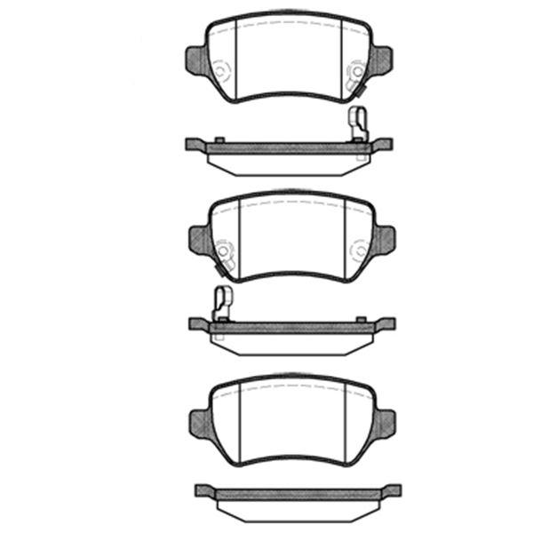 4 plaquettes de frein arri re sbs 223625 feu vert. Black Bedroom Furniture Sets. Home Design Ideas