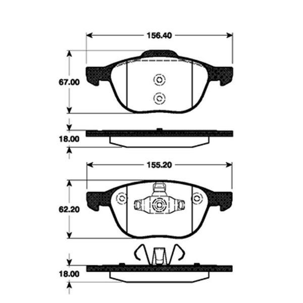4 plaquettes de frein avant sbs 222561 feu vert. Black Bedroom Furniture Sets. Home Design Ideas