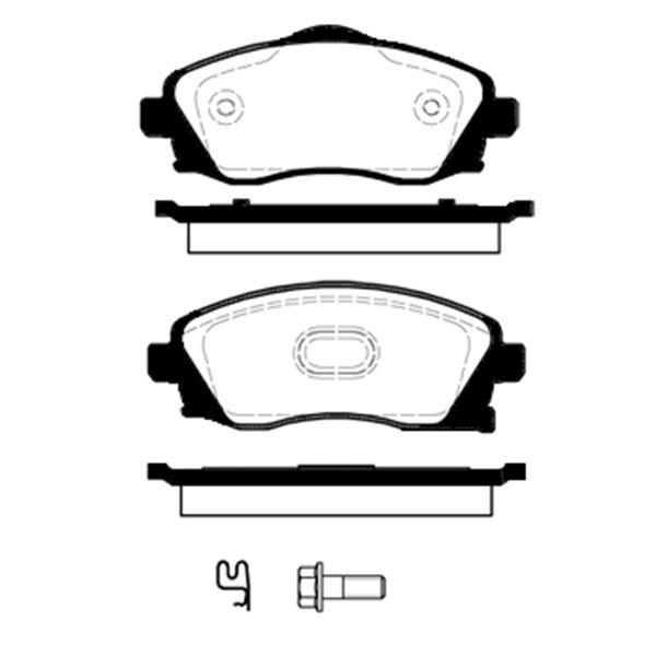 4 plaquettes de frein avant sbs 223624 feu vert. Black Bedroom Furniture Sets. Home Design Ideas