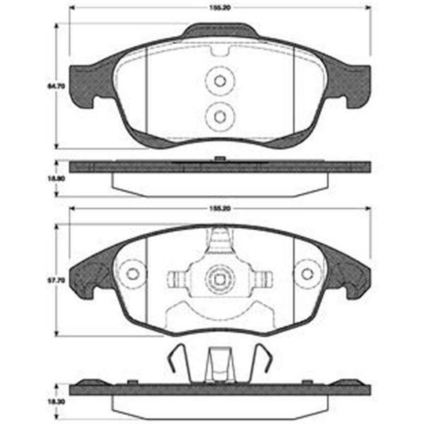 4 plaquettes de frein avant sbs 221955 feu vert. Black Bedroom Furniture Sets. Home Design Ideas