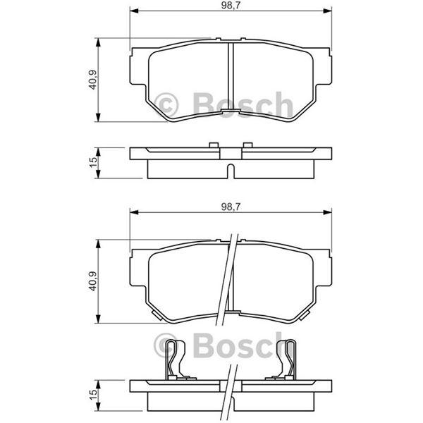 plaquette arri re bosch bp1339 feu vert. Black Bedroom Furniture Sets. Home Design Ideas