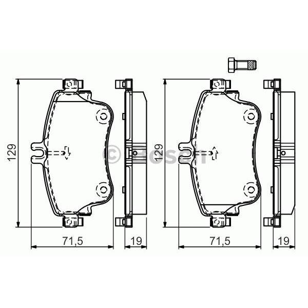 4 plaquettes de frein avant bosch bp1508 feu vert. Black Bedroom Furniture Sets. Home Design Ideas