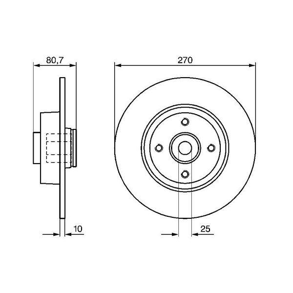 disque de frein arri re x1 bosch bd1123 feu vert. Black Bedroom Furniture Sets. Home Design Ideas