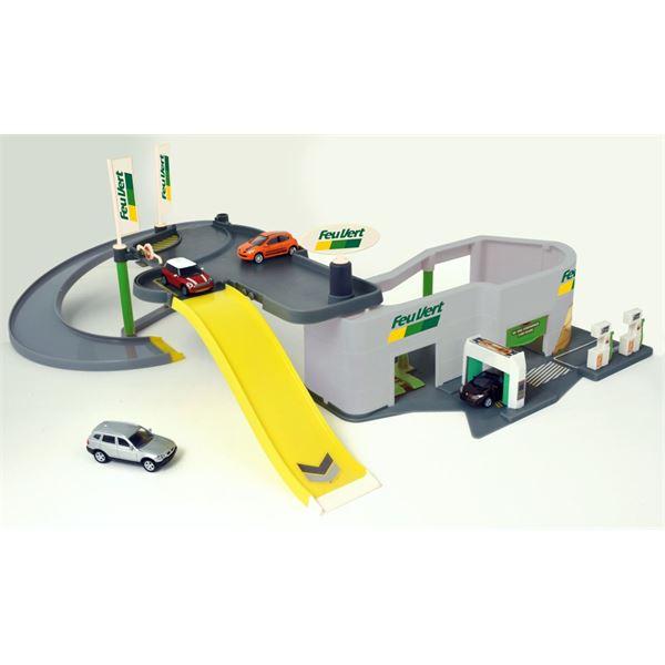 garage miniature norev centre auto feu vert feu vert. Black Bedroom Furniture Sets. Home Design Ideas
