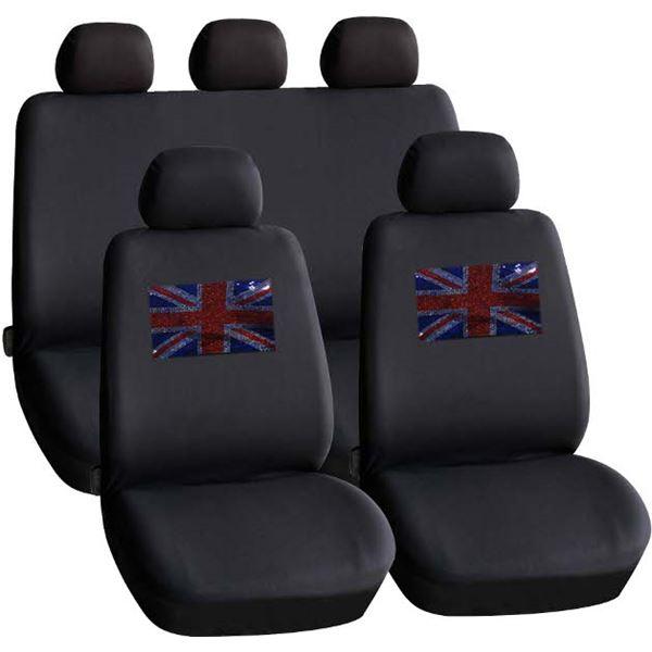 housses de si ge voiture motif drapeau union jack feu vert. Black Bedroom Furniture Sets. Home Design Ideas