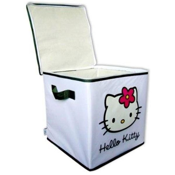 bo te rangement blanche hello kitty feu vert. Black Bedroom Furniture Sets. Home Design Ideas