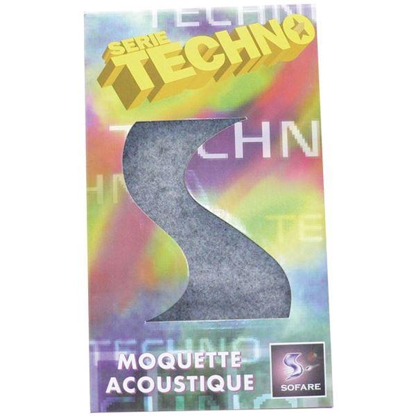 Moquette acoustique grise fonc e 75x140cm feu vert for Moquette acoustique
