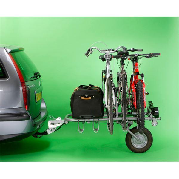 Porte v los remorque sur attelage mono roue pour 5 v los for Porte 4 velo attelage