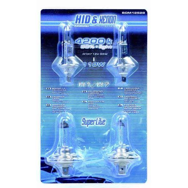 2 ampoules de feu h1 2 ampoules h7 55w look xenon bleut feu vert. Black Bedroom Furniture Sets. Home Design Ideas