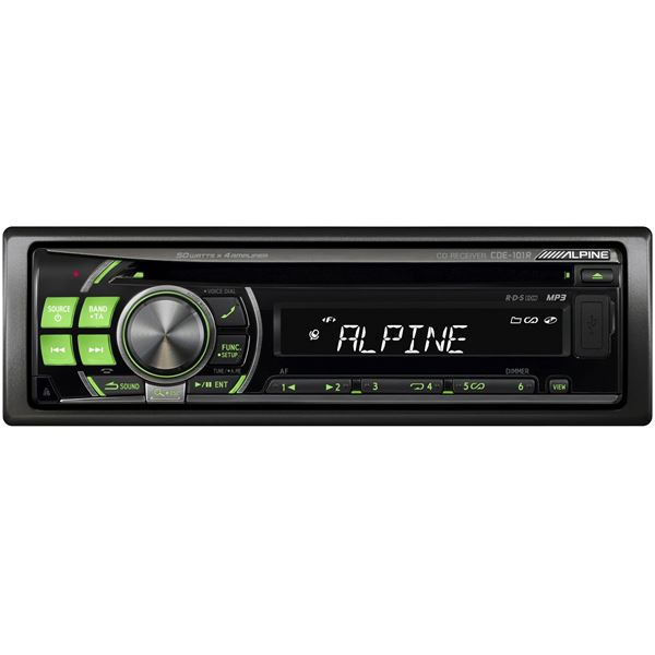 Autoradio Alpine Cde 101r Feu Vert