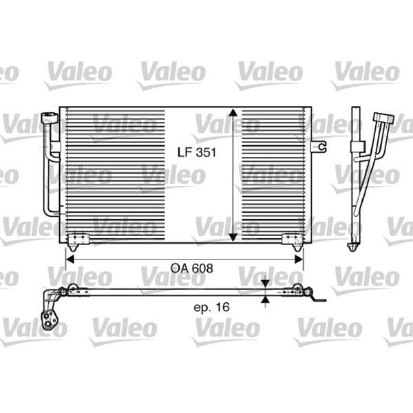 condenseur de climatisation valeo 817560 feu vert. Black Bedroom Furniture Sets. Home Design Ideas