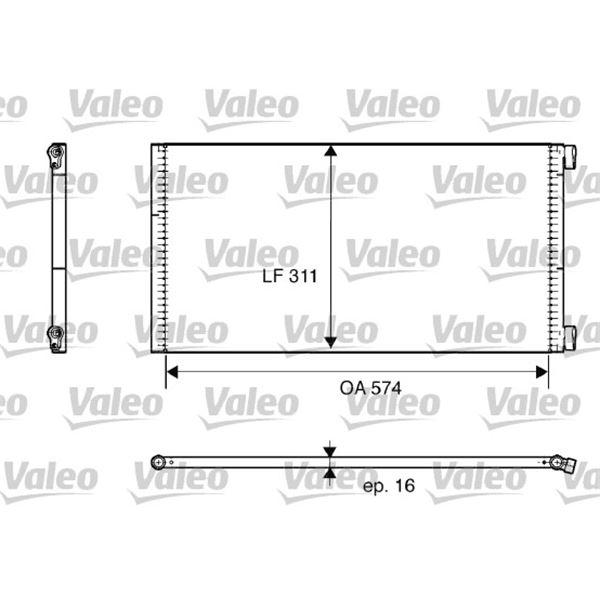 condenseur de climatisation valeo 817684 feu vert. Black Bedroom Furniture Sets. Home Design Ideas