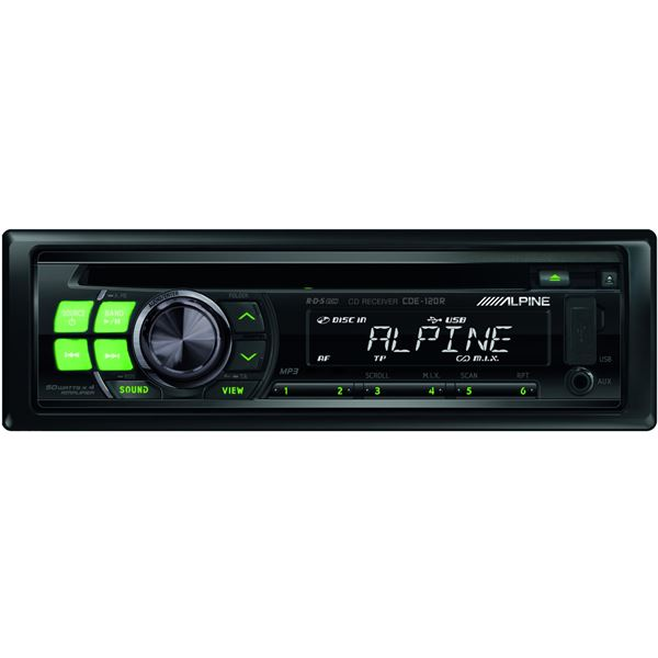 autoradio alpine cde 120r feu vert. Black Bedroom Furniture Sets. Home Design Ideas