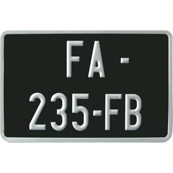 plaque immatriculation class noir 210 x 130 mm siv feu vert. Black Bedroom Furniture Sets. Home Design Ideas