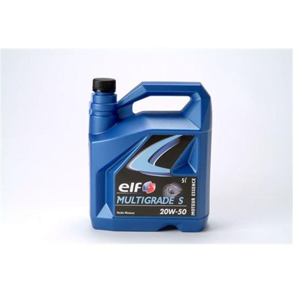 huile multigrade essence elf 20w 50 5l feu vert
