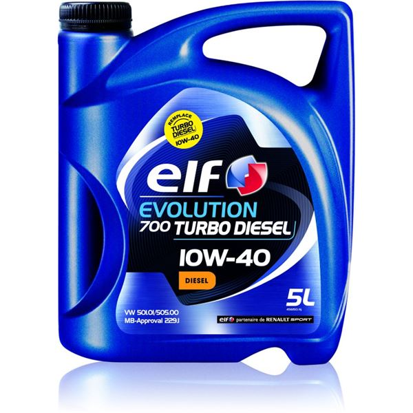 huile moteur elf evolution 700 turbo diesel 10w40 5l feu vert. Black Bedroom Furniture Sets. Home Design Ideas