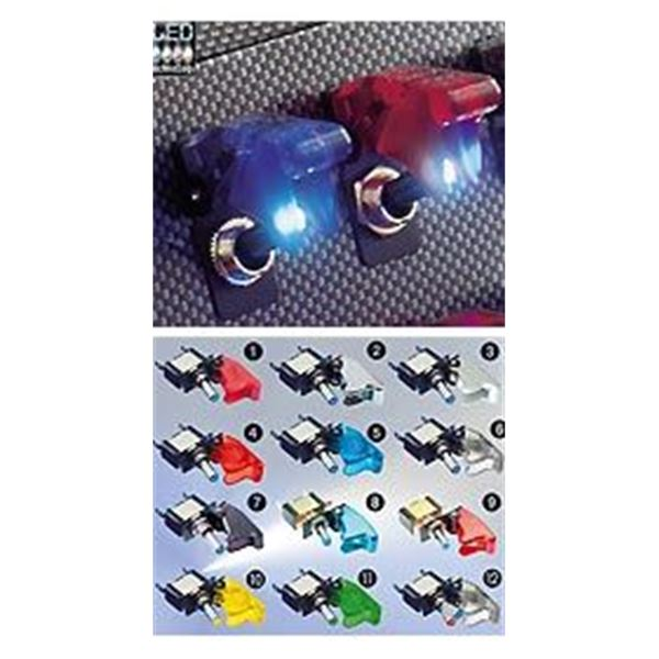 Interrupteur led bleu chrome