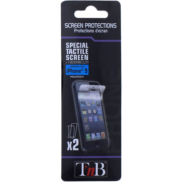 2 Protections écran iPhone 5 T'NB