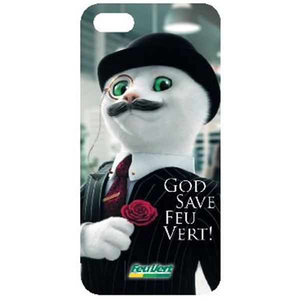 Coque iPhone 5 chat anglais Feu Vert