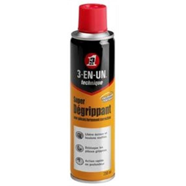 Super Dégrippant 3 en 1 technique aérosol 250 ml