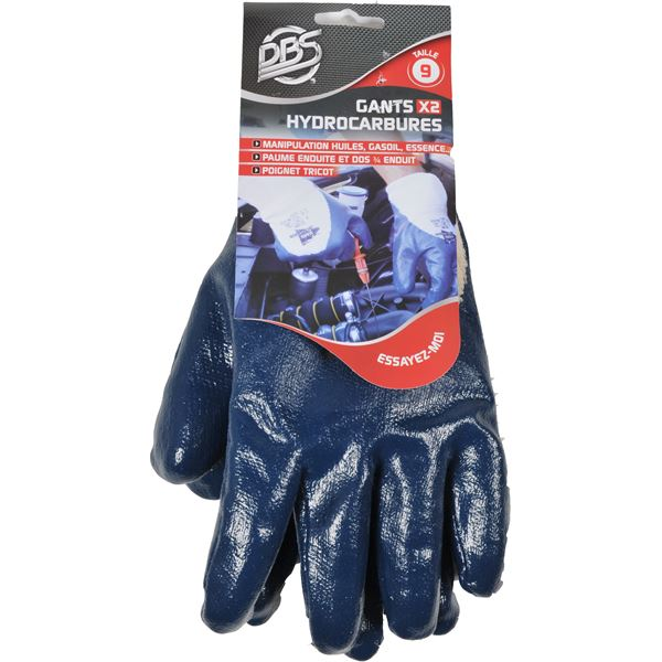 Gants enduction nitrile pour hydrocarbures
