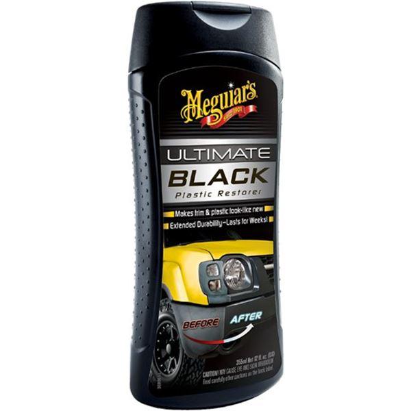R novateur plastiques ext rieurs ultimate black meguiar for Renovateur plastique voiture interieur