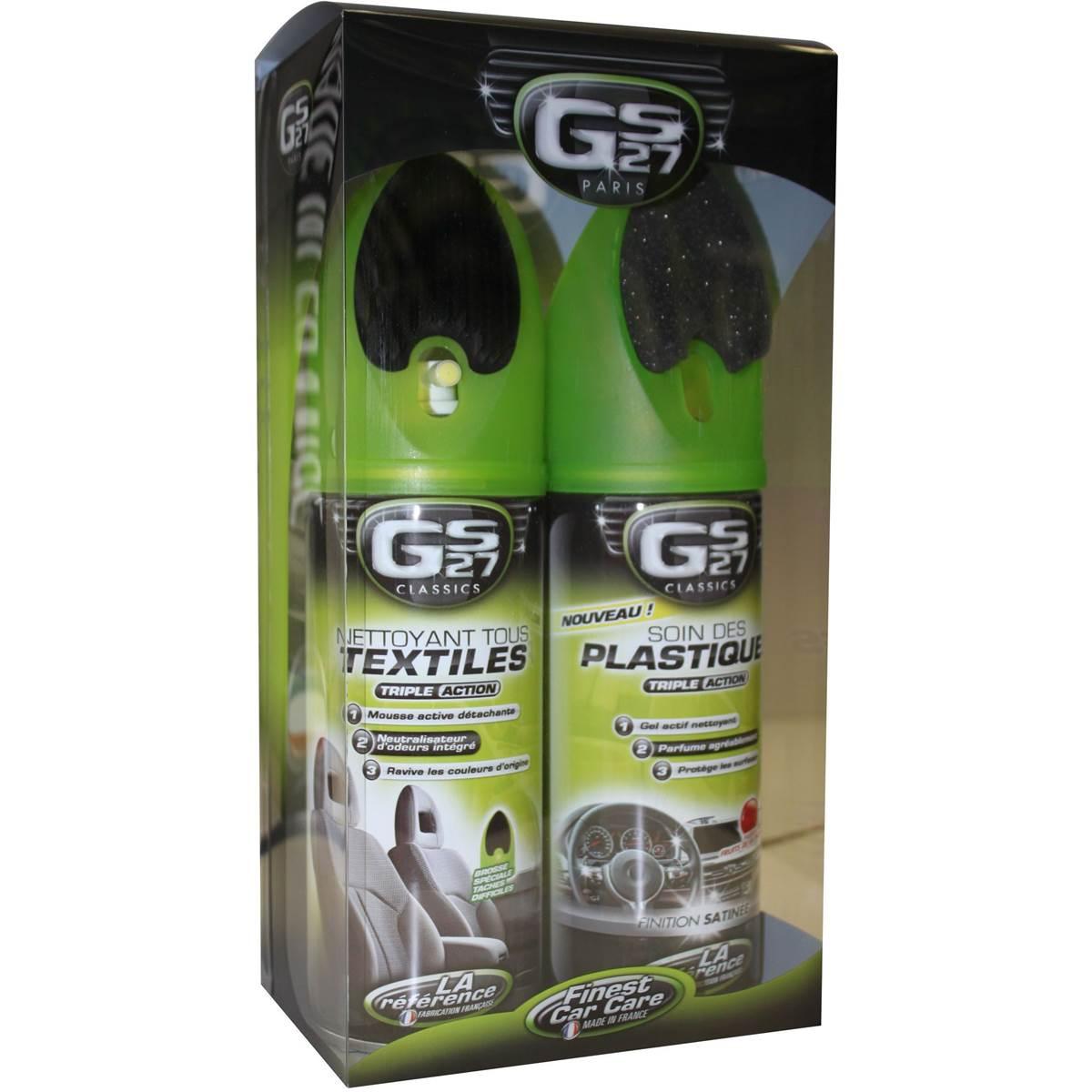 Nettoyant textile + nettoyant plastique (pack) GS27
