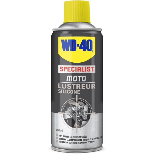 Lustreur silicone pour moto WD40 400ml