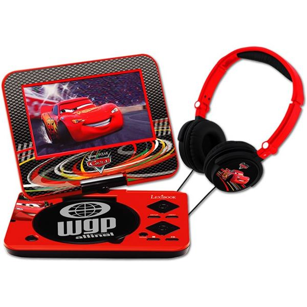 lecteur dvd portable lexibook disney cars avec casque audio cars feu vert. Black Bedroom Furniture Sets. Home Design Ideas