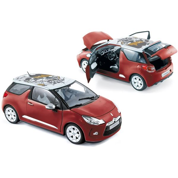 Voiture miniature Citroën DS3 2010 Sanguine Red with White Roof