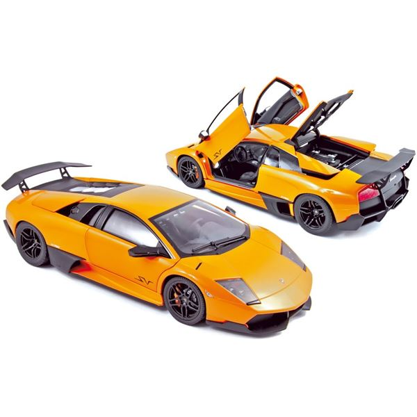 Voiture miniature Lamborghini Murcielago LP670-4 Super Veloce 2009 Orange