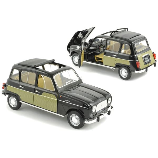 Voiture miniature Renault 4L Parisienne 1963 Black & Yellow