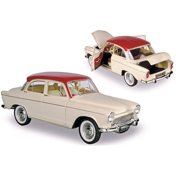 Voiture miniature Simca P60 Montlhéry 1961 China Ivory / Tison Red