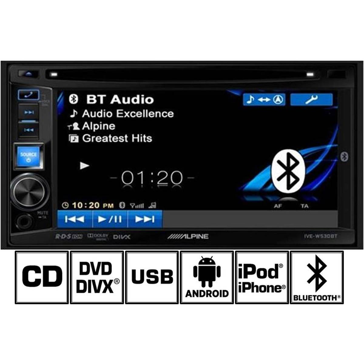 Autoradio Alpine IVE-W530BT