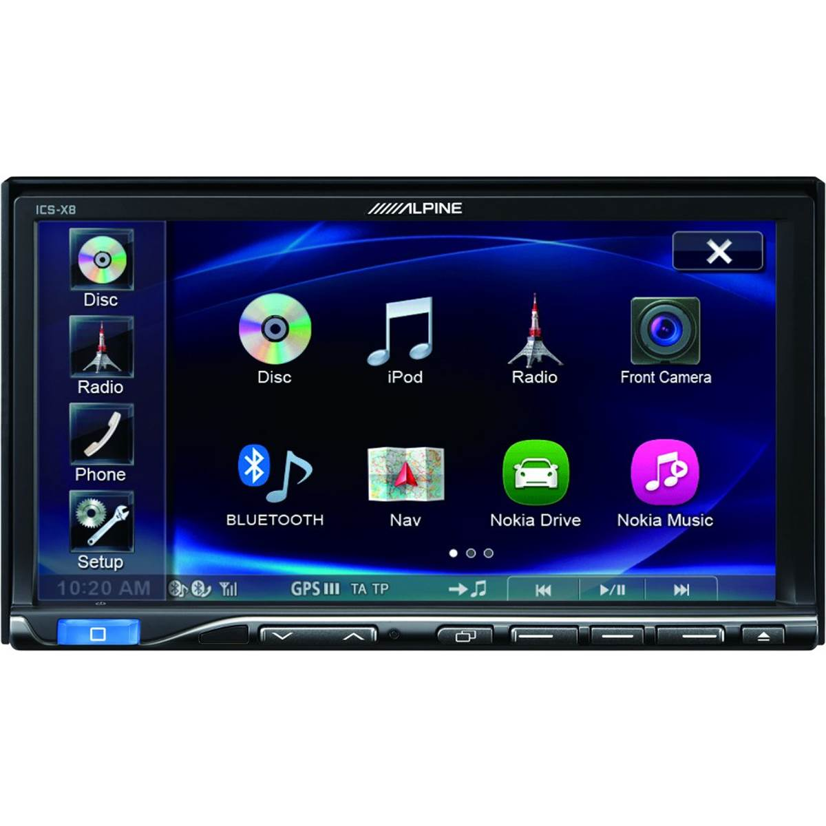 Autoradio multimédia Alpine ICS-X8