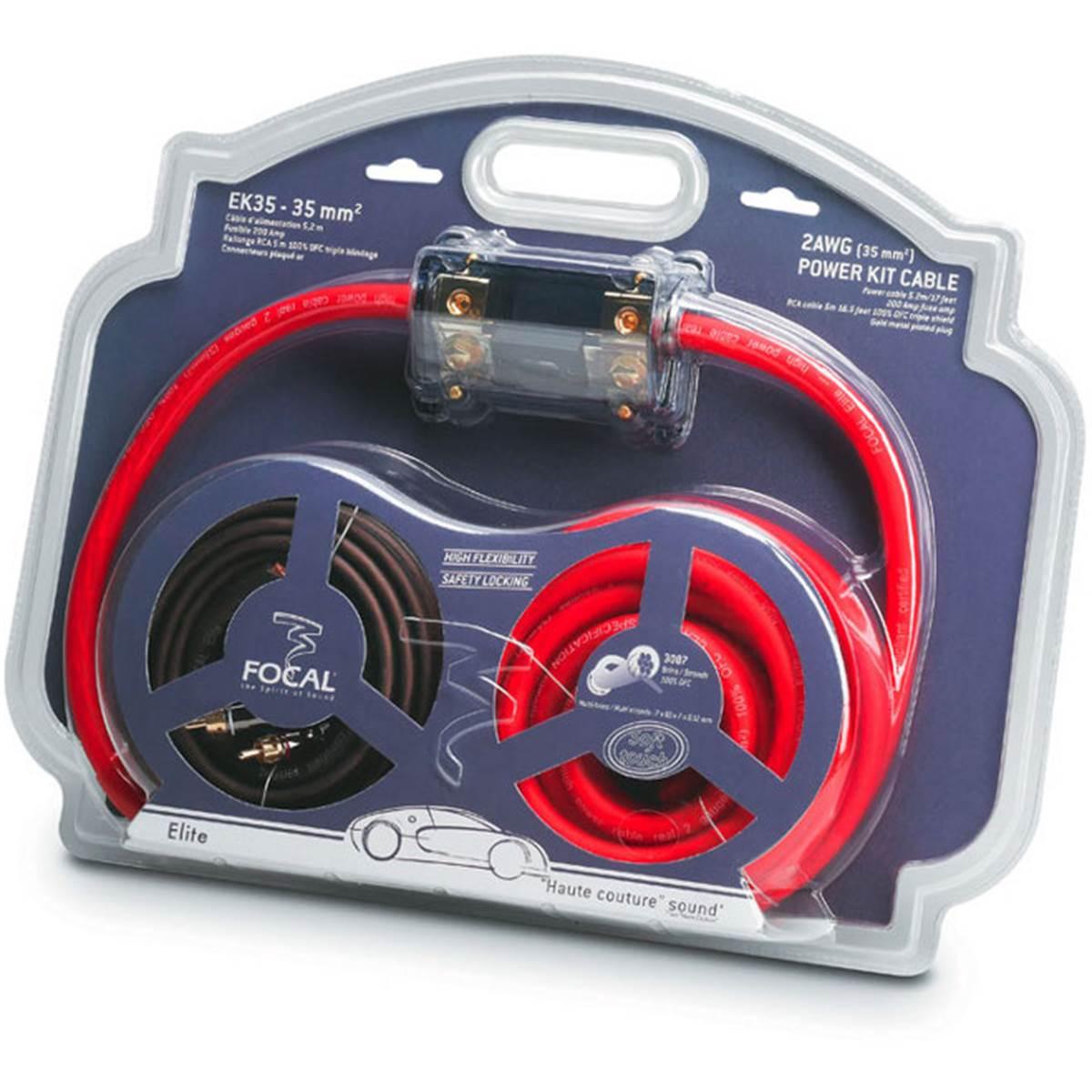Kit d'alimentation amplificateur 35 mm² Focal Elite EK 35