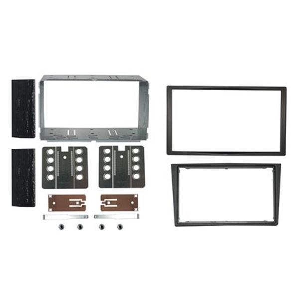 Support Décor double DIN (antracite) Autoradio spécial OPEL ASTRA 2004>