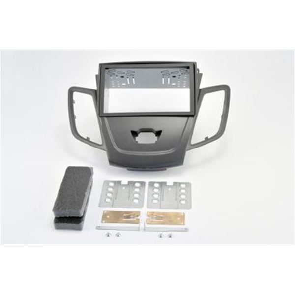 Support autoradio double DIN gris métal FORD FIESTA 2008>